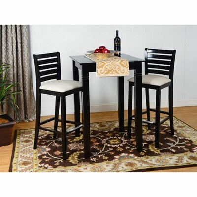 Sisley 3 Piece Bar Set Color: Black