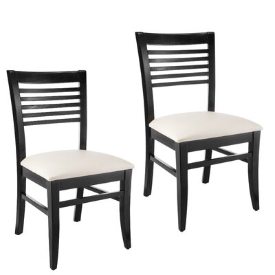 Venetion Side Chair (Set of 2) Finish: Black