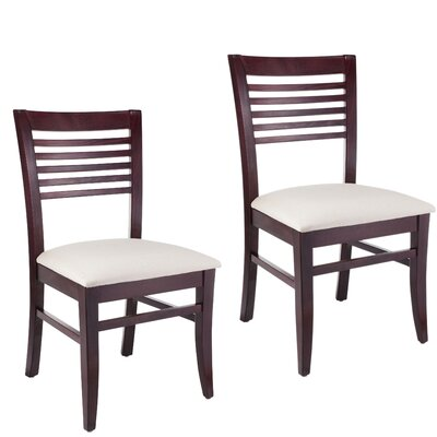 Venetion Side Chair (Set of 2) Finish: Dark mahogany