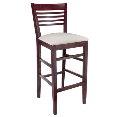 Venetion 30 inch Bar Stool Finish: Dark Mahogany