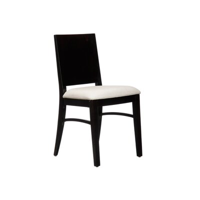 Italia Side Chair (Set of 2) Finish: Black