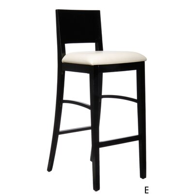Italia 30 Bar Stool Finish: Black