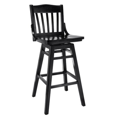 Schoolhouse 30 Swivel Bar Stool Finish: Black