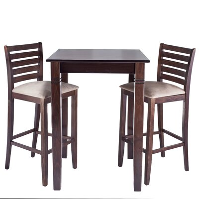 Sisley 3 Piece Bar Set Finish: Walnut