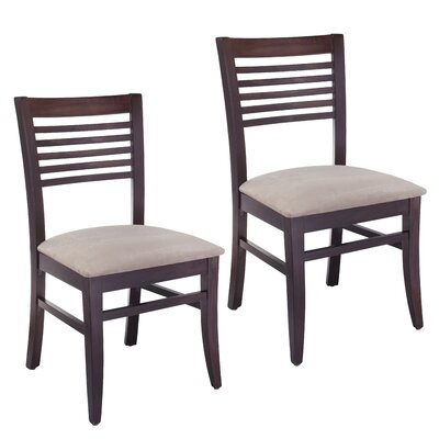 Venetion Side Chair (Set of 2) Finish: Walnut