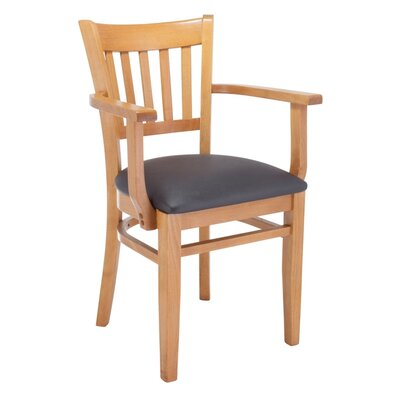 Jeske Slatback Arm Chair Frame Color: Natural, Seat Color: Gray
