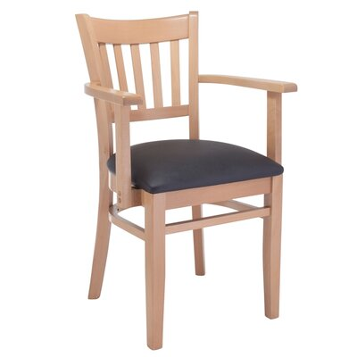 Slatback Arm Chair Finish: Natural