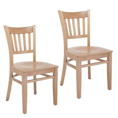 Slatback Solid Wood Dining Chair Finish: Natural