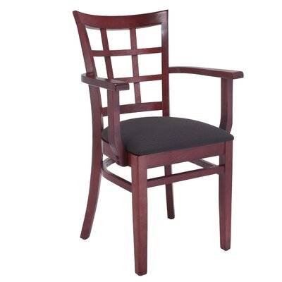 Solid Wood Arm Chair Finish: Mahogany