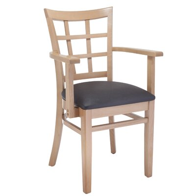 Solid Wood Arm Chair Finish: Natural