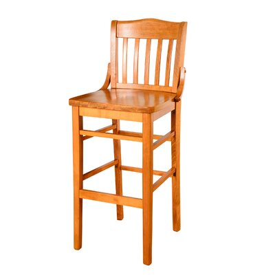 Schoolhouse 43.5 Bar Stool Finish: Mahogany