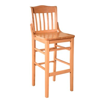 Schoolhouse 43.5 inch Bar Stool Finish: Natural