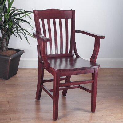 Schoolhouse Arm Chair Finish: Mahogany