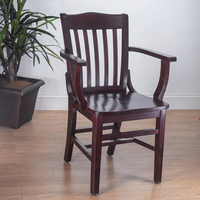 Schoolhouse Solid Wood Dining Chair Finish: Dark Mahogany