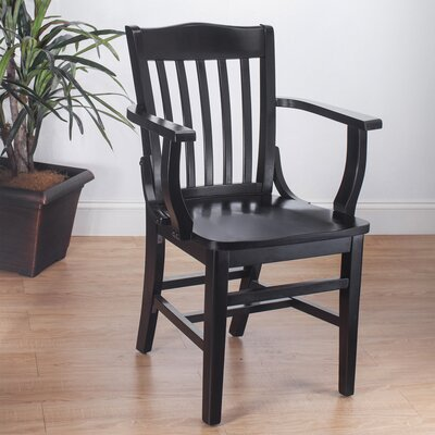 Kershaw Solid Wood Dining Chair Finish: Black