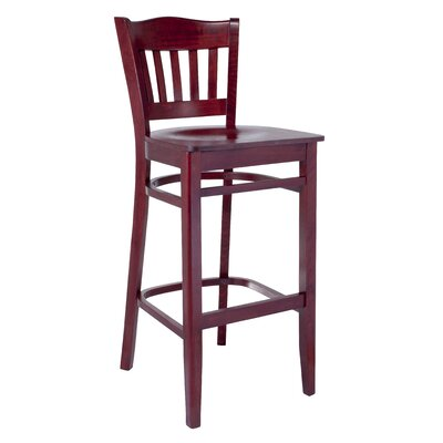 Hyatt 30 Bar Stool Finish: Mahogany