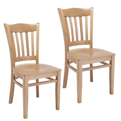 Hyatt Side Chair with Wood Seat (Set of 2) Finish: Natural