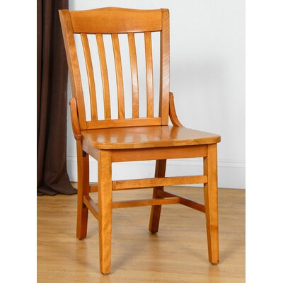 Schoolhouse Solid Wood Dining Chair (Set of 2) Finish: Walnut