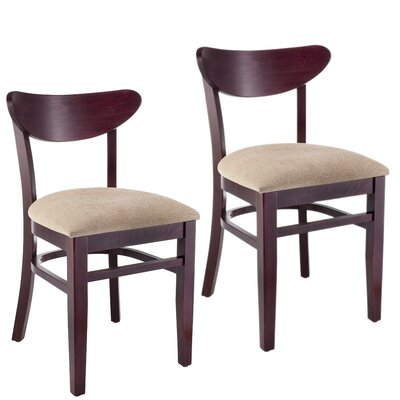 Fayette Oval Back Solid Wood Dining Chair Frame Color: Dark Mahogany