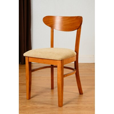 Fayette Oval Back Solid Wood Dining Chair (Set of 2) Frame Color: Cherry