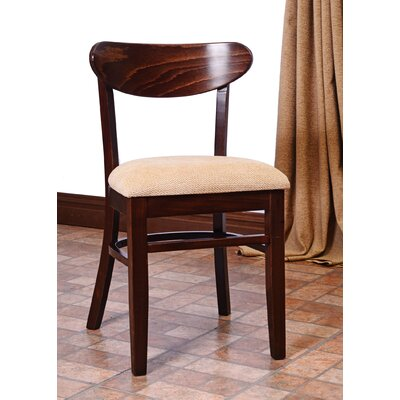 Fayette Oval Back Solid Wood Dining Chair (Set of 2) Frame Color: Walnut
