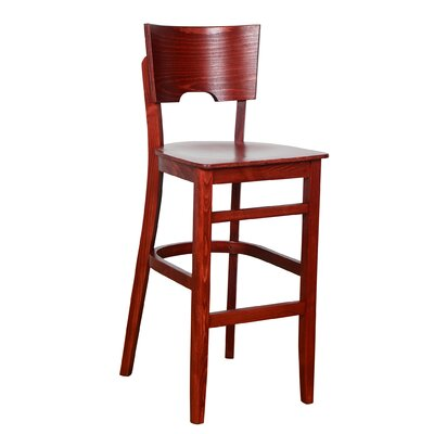 Featherston 30 Bar Stool Finish: Mahogany