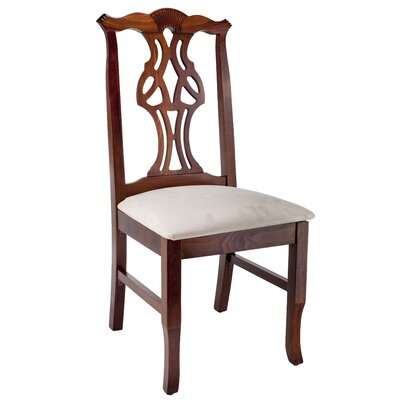 Chippendale Solid Wood Dining Chair Frame Color: Medium Oak
