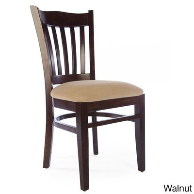 Darlington Side Chair Upholstery Color: Beige, Frame Color: Walnut