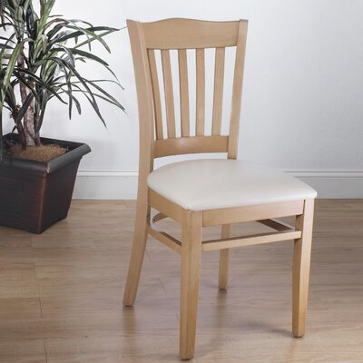 Darlington Side Chair Upholstery Color: Cream, Frame Color: Natural