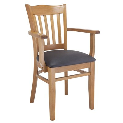Darlington Solid Wood Dining Chair Upholstery Color: Black