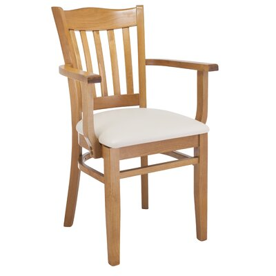 Darlington Solid Wood Dining Chair Upholstery Color: Cream