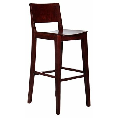 Basil 30 Bar Stool Finish: Dark Mahogany
