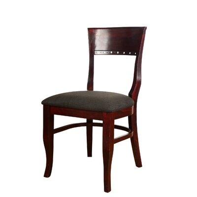 Tymon Solid Wood Dining Chair Color: Dark Mahogany