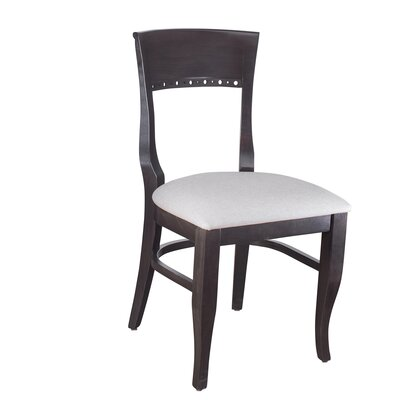 Tymon Solid Wood Dining Chair Color: Walnut