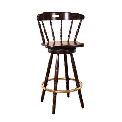 Franny 30 Swivel Bar Stool Finish: Walnut