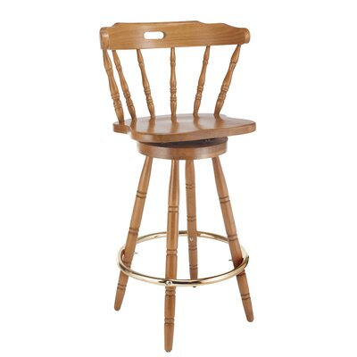 Franny 30 Swivel Bar Stool Finish: Cherry