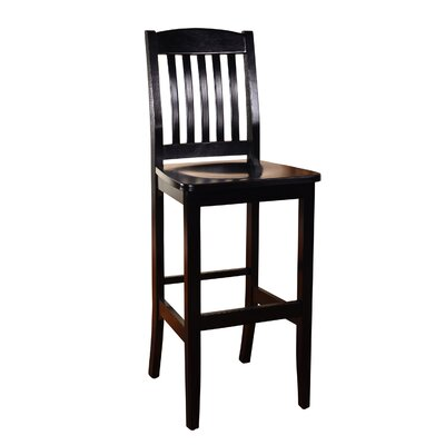 Chaim 30 Bar Stool Color: Black
