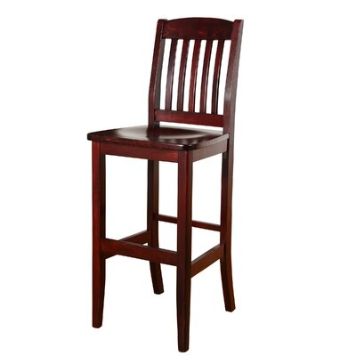 Chaim 30 Bar Stool Color: Dark Mahogany