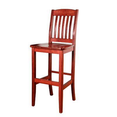 Chaim 30 Bar Stool Color: Mahogany