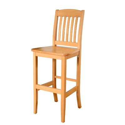 Chaim 30 Bar Stool Color: Natural