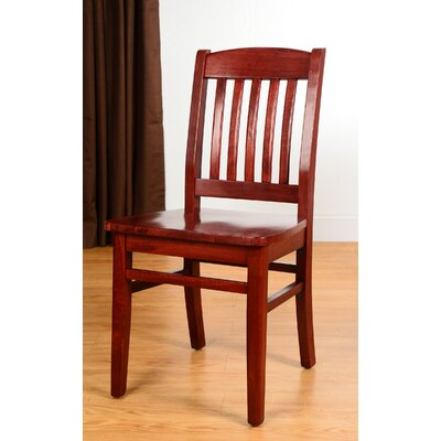 Claverton Down Solid Wood Side Chair Color: Mahogany