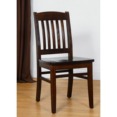 Claverton Down Solid Wood Side Chair Color: Walnut
