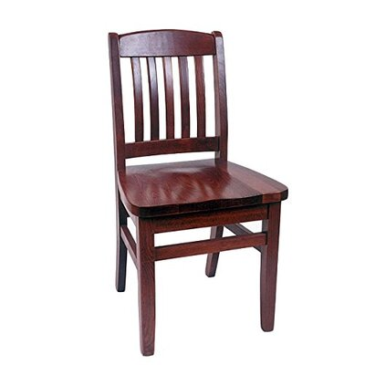Claverton Down Solid Wood Side Chair Color: Dark Mahogany