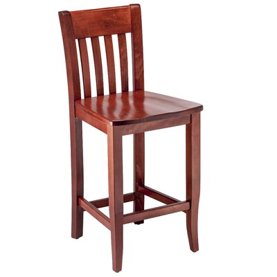 Walter 30 Bar Stool Color: Mahogany