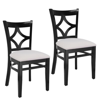 Fralick Side Chair Finish: Black / White