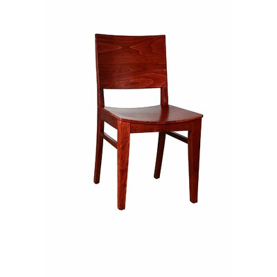 Basil Solid Wood Dining Chair Finish: Mahogany