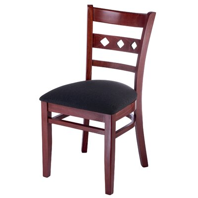 Ewell Side Chair in Neutral Microfiber Finish: Mahogany
