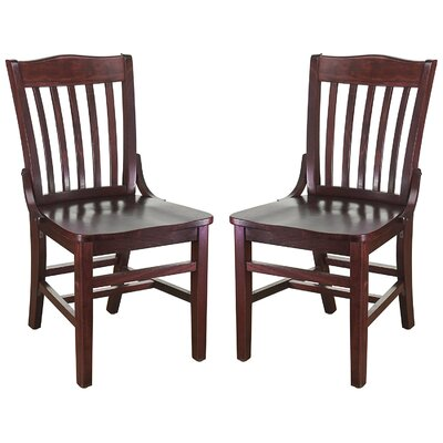 Kershaw Solid Wood Dining Chair Finish: Mahogany
