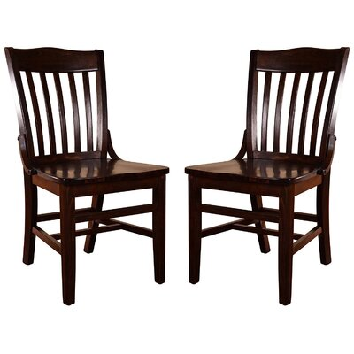 Kershaw Solid Wood Dining Chair Finish: Walnut