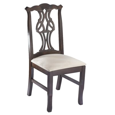 Chippendale Solid Wood Dining Chair Frame Color: Walnut